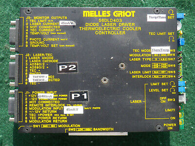 Melles Griot 56dld403 Diode Laser Driver Thermoelectric Cooler Controller