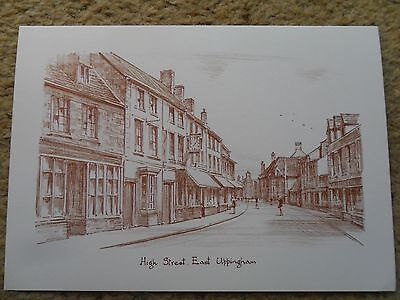JUDGE.POSTCARD  .HIGH STREET EAST UPPINGHAM.   NOT POSTED.NUMBER S115.