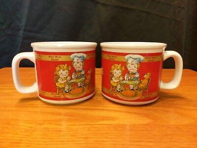 2 Campbells Soup Mug 1998 Houston Harvest -  Red Kids Tea Party Coffee/Soup Cup (Kids Party Houston)