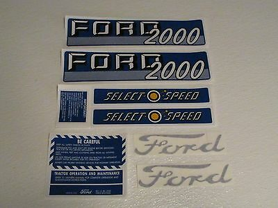 Ford Tractor Decal Set 2000 Gas Selecto Speed With Caution Stickers 1115-1538
