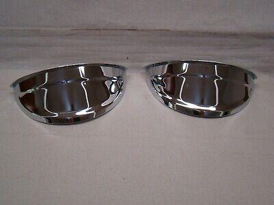 """plain chrome head light visors chrome 7 inch visors chrome 7"""" eye lids eyebrows"""