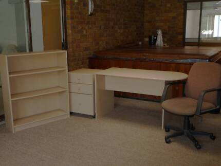 office desk drawers chair bookcase