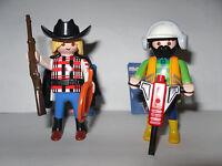 Boys 2 x Playmobil 5458 Bauarbeiter *Neu Cowboy Serie 6