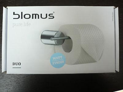 Blomus DUO WC-Rollenhalter 68517  Neu + OVP  Edelstahl matt, mit Wandhalter TOP