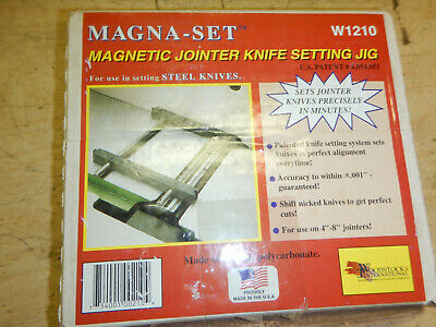 Usa Magna Set W1210 Wood Jointer Knife Setting Fixture Jig Magnetic
