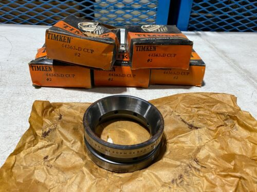 One Timken 44363-D Tapered Roller Bearing Cup Double Cup #2, NOS