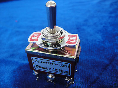 Momentary 20a 125v Dpdt 2 Pole Double Throw 6 Terminal Onoffon Toggle Switch