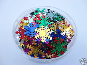 SNOWFLAKE-CRAFT-SEQUINS-CONFETTI-WEDDING-TABLE-PARTY-CARD-MAKING-4-10-20-50G