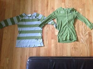 Roxy,Abercrombie and Fitch green long sleeves shirts
