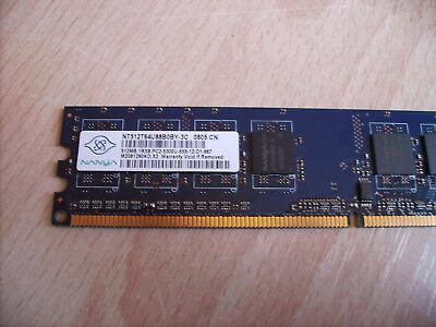 Nanya 512MB DDR2 RAM PC2-5300 NEU Getestet Arbeitsspeicher PC