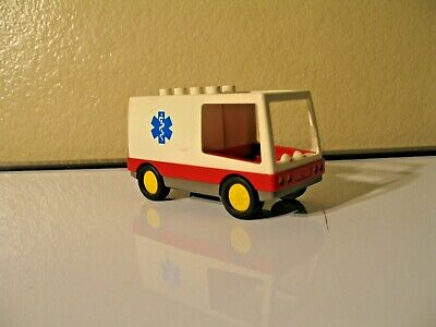 Rare Vintage 1994 LEGO DUPLO 2682 Ambulance Vehicle Rare Hospital Doctor Loose