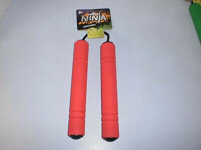 Ninja Toy Nunchucks NunChaku Foam & Plastic Red New
