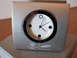 2002 Salt Lake City Olympics souvenir desktop business card holder / clock