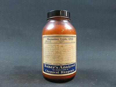 Magnesium Oxide Powder Acs Grade 100 Grams Bakers Analyzed Reagent
