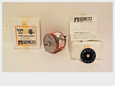 Staco Type 251 Variable Autotransformer Panel Mount - Nos