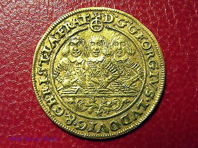 SCHLESIEN LIEGNITZ BRIEG 1 Dukat 1659 EW Gold SS-VZ Dreibrüderdukat
