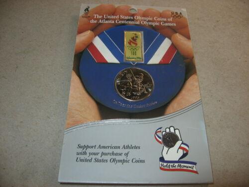 1995-S United States Olympic Commemorative Clad Baseball Half Dollar BU On Card