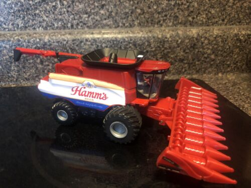 1/64 Case IH 7250 Combine  HAMM's Beers Logo With Two Heads