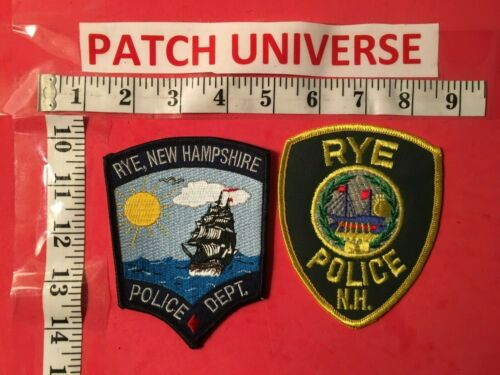 LOT OF TWO DIFF RYE  NEW HAMPSHIRE  SHOULDER  PATCHES  M056
