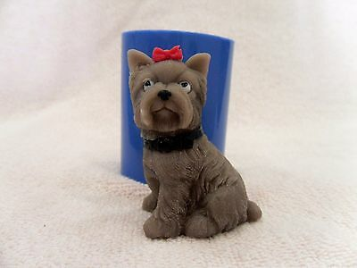 """Yorkshire Terrier"" dog silicone mold for soap and candles making mould molds"