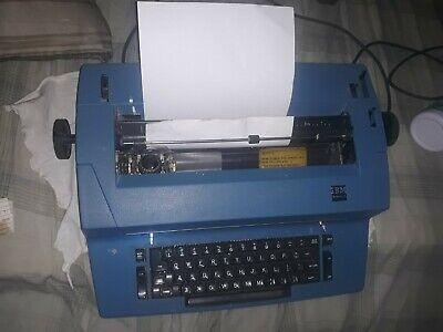 Vintage Ibm Correcting Selectric Ii Electric Typewriter Blue E7 Ser. 6595366 31