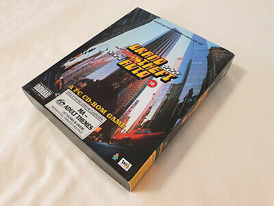 Computer Games - VINTAGE 1997 GTA GRAND THEFT AUTO BIG BOX PC GAME CD-ROM CD ROM COMPUTER DOS IBM