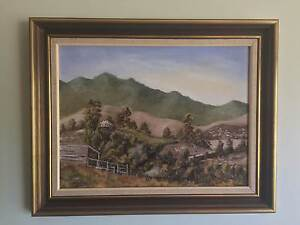 Landscape by Aiden Wallace - Framed Original Oil Painting Coolangatta Gold Coast South Preview