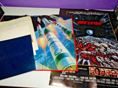 1979 METEOR movie promo press kit SEAN CONNERY NATALIE WOOD 2 posters