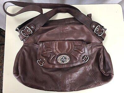 Authentic B. Makowsky Pebbled Leather Double Handle Designer Women's Handbag