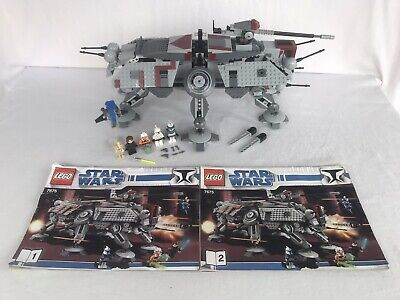 LEGO #7675 Star Wars AT-TE Walker 100% Complete All Parts, Minifigures & Manuals