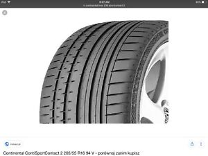 Tires 225/40 ZR18 Continental Sport Contact 2 (2 available)
