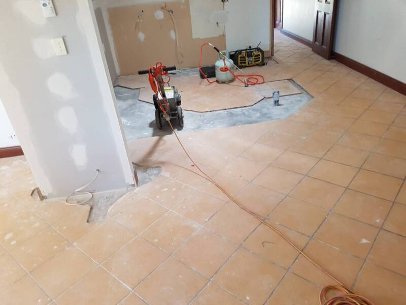 Concrete Grinding Ceramic Tile Pull Up Floor Coverings Removal