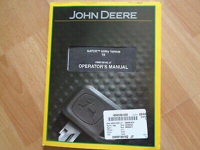 John Deere Gator Te Utility Vehicle Factory Operators Manual Oem