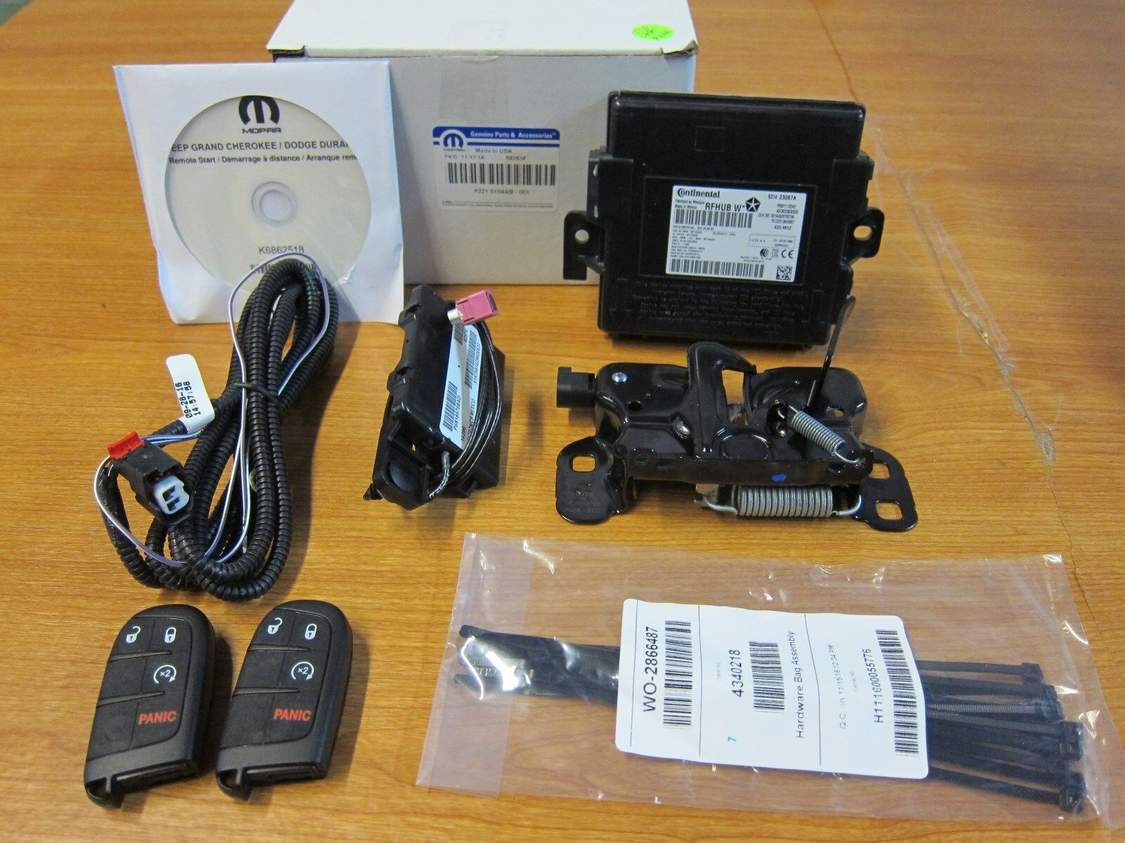 2016 2017 Dodge Durango Oem Remote Start Ignition Installation Kit 2 Keys