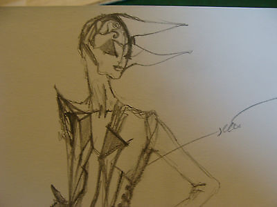 vintage Funky, Hip, Fashion Drawing: Triangle eyes, mostly top](Most Original Costume)