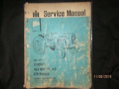 Ih International Harvester 454 464 574 674 Tractor Blue Ribbon Service Manual