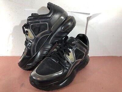 Men's Fendi Platform Exotic Chunky Runner Sneakers Black & White Size 8 US