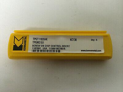 5 Pcs Kennametal Tpgm2151 Kc730 Tpgt110204k Carbide Inserts Tpgt 21.51