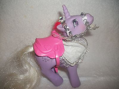 Vintage 1984 Hasbro My Little Pony Snow Sparkle Purple Unicorn