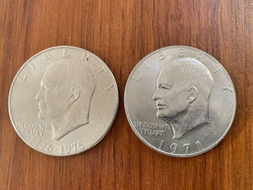 Two Eisenhower Dollar Coins - $2.99