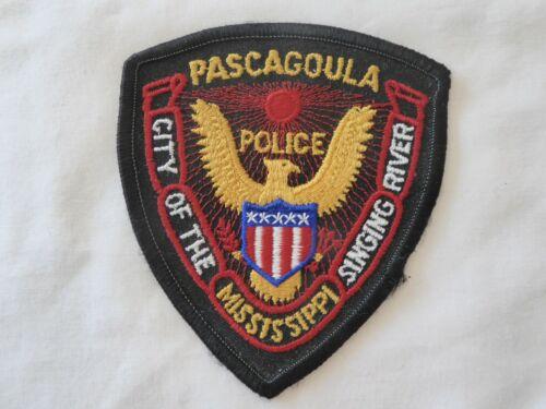PASCAGOULA MISSISSIPPI POLICE UNIFORM EMBLEM PATCH, NEW UNUSED!