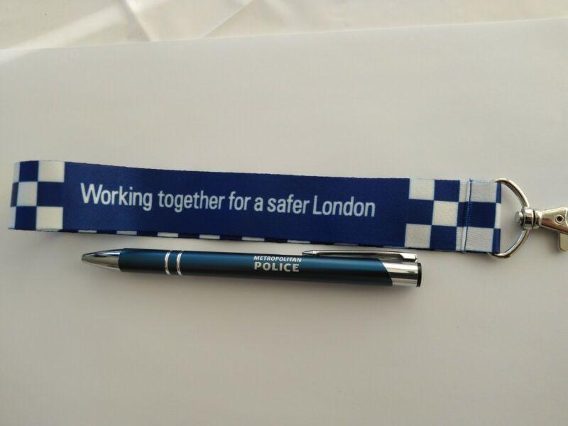 Metropolitan police keyring and metal pen police officer gift