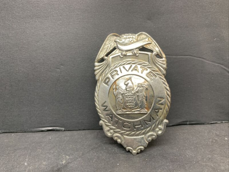 Private Watchman Badge Metal