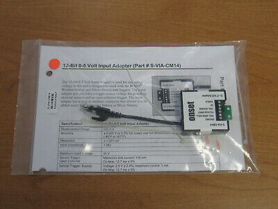 Onset 12-bit 0-5 Volt Voltage Input Adapter - New Open Boxbag