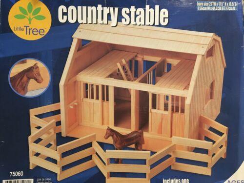 """Large Wood Barn Stable  for 6-7"""" Breyer Horses Sliding Doors"""
