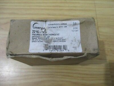 Invensys Siebe 2216-026 Pneumatic Daynight Thermostat W Local Indexing - New