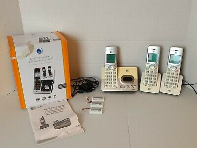 AT&T EL52303 Cordless Home Phone Set 3 Handset w/Answering Machine Pre-owned