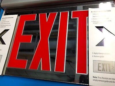 Lithonia Lighting Edg 2 R El M6 Aluminum Edge-lit Led Emergency Exit Sign New D