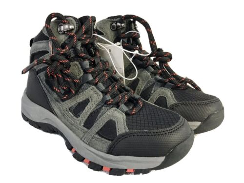 New Cat & Jack Boys Kids Hiking Boots Patsy Black/Gray Shoes