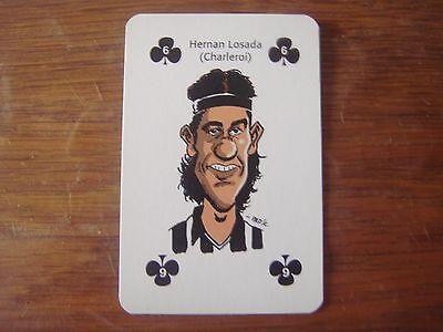 Football Carte caricature (Sudpresse) Hernan LOSADA ( RSC Charleroi Beerschot